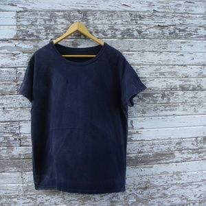 No. 399 Distressed Thrashed Solid Black T-Shirt